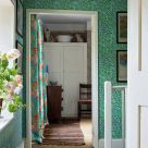 Willow Green and Blue Leaf Wallpaper