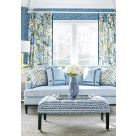 Windsor Blue and Yellow Curtains Fabric