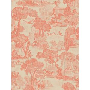 Versailles Wallpaper In Soft Charcoal Toile De Jouy Designer