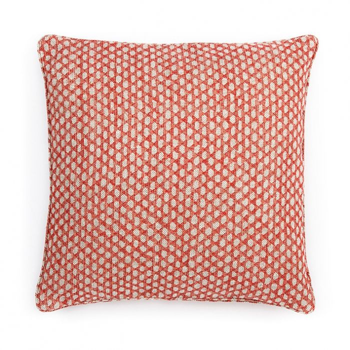 Large Square Spotted Piped Cushion