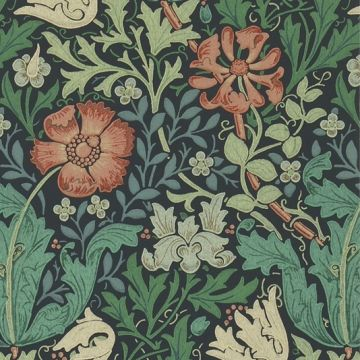 Green Floral Wallcovering