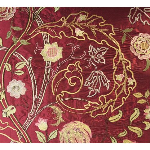 Mary Isobel Embroidered Silk Fabric
