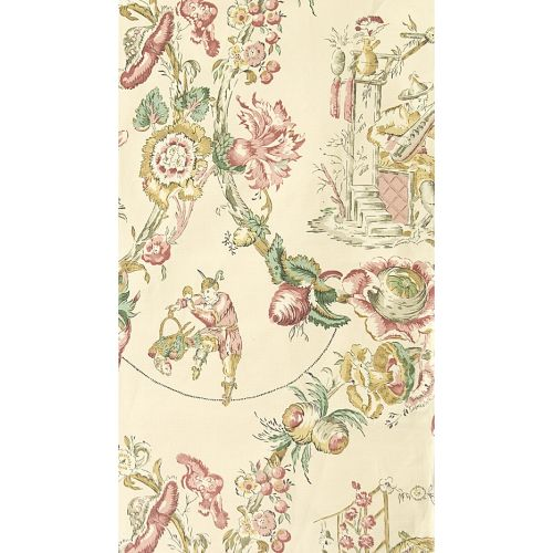 Cathay Toile Linen Fabric