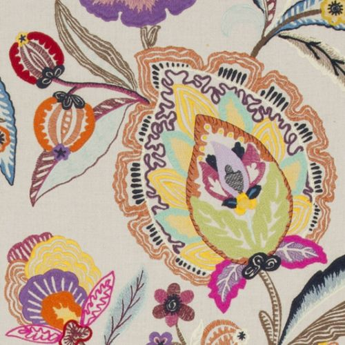 Oakwood Embroidered Fabric