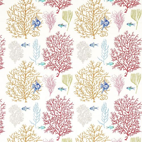 Coral & Fish Fabric