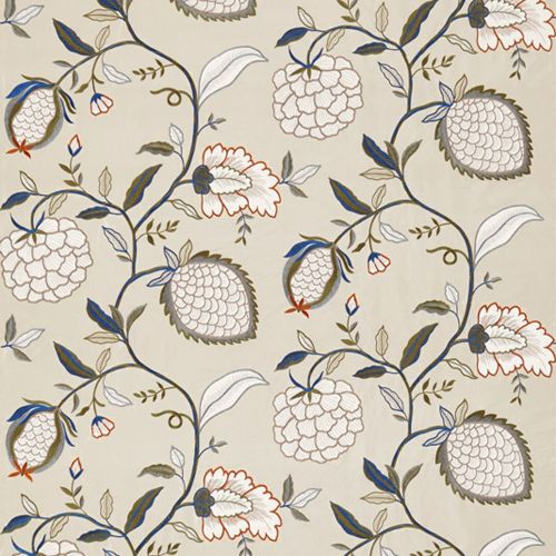 Pomegranate Tree Embroidered Fabric