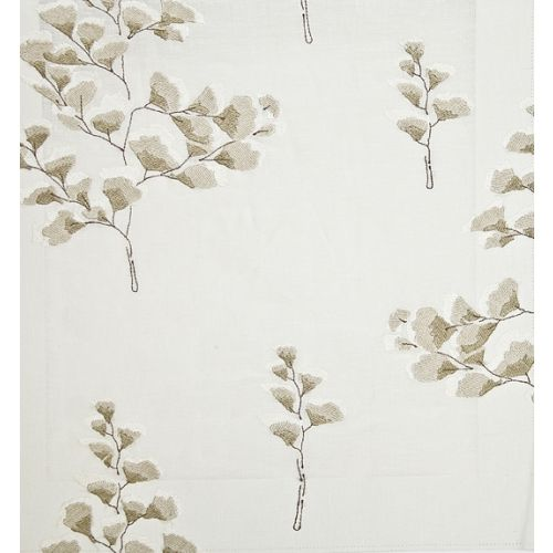 Gingko Fern Embroidered Fabric