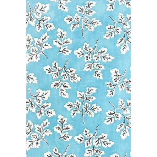 Meadow Leaf Cotton Curtain Fabric