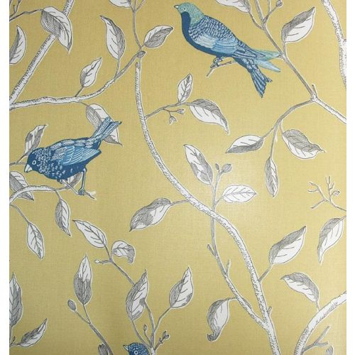 Finches Curtain Fabric