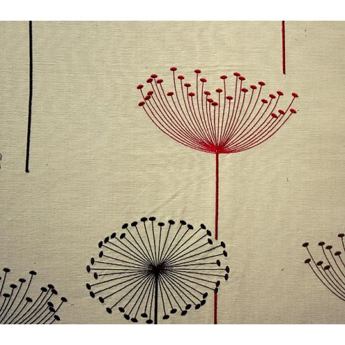 Dandelion Clocks Embroidered Fabric