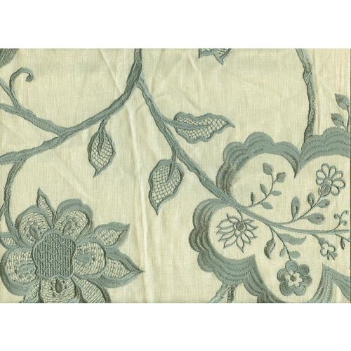 Jacobean Embroidered Linen Fabric