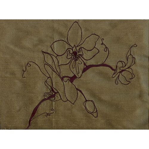 Orchid Silk Curtain Fabric