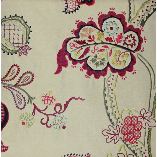 Roslyn Embroidery Curtain Fabric