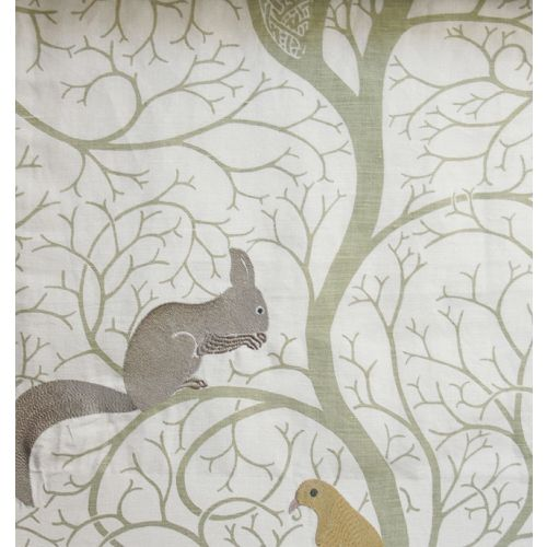 Squirrel & Dove Embroidery Fabric