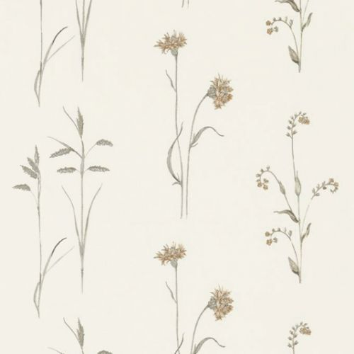 Meadow Grasses Embroidered Fabric