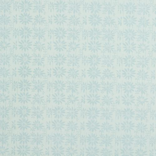Duck Egg Blue Floral Fabric