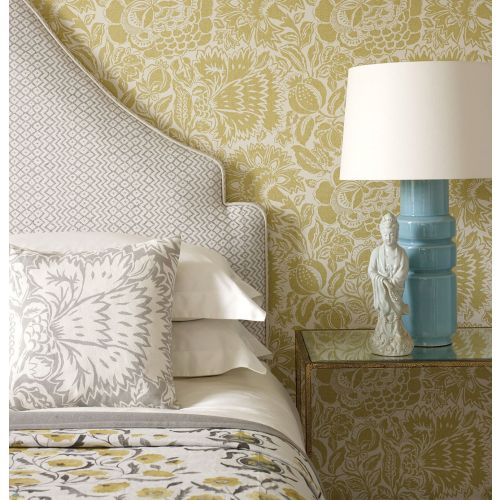 Poppy Damask Wallpaper