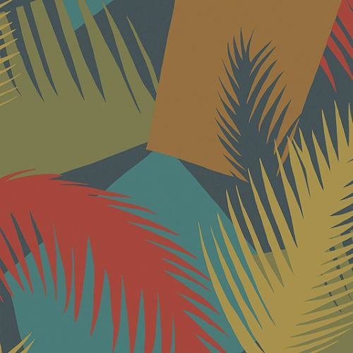 Deco Palm Wallpaper