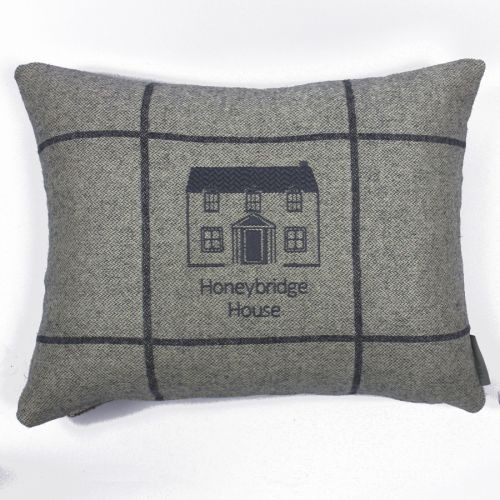 Where the Home Is Embroidered Cushion