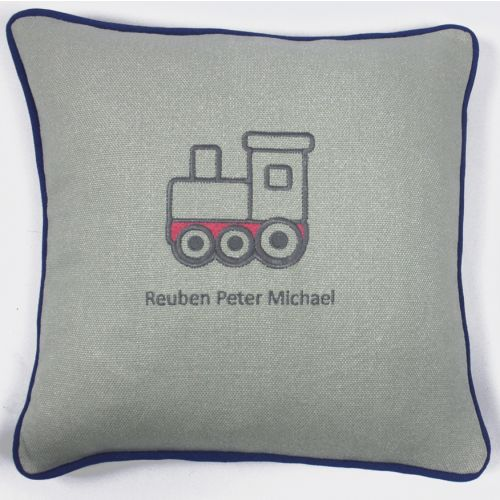All Aboard Embroidered Cushion