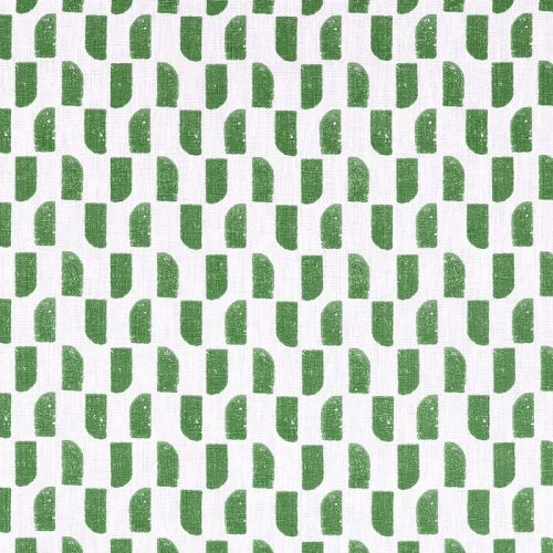 Green Small Design Printed Linen