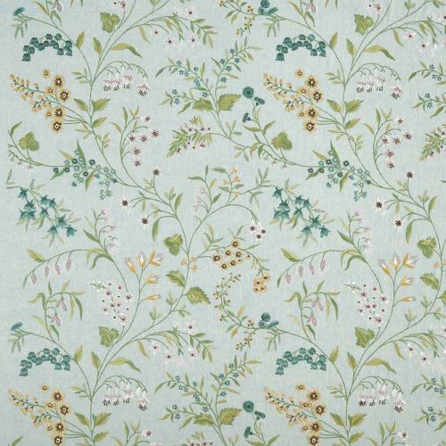 Almora Embroidered Fabric Blue Floral