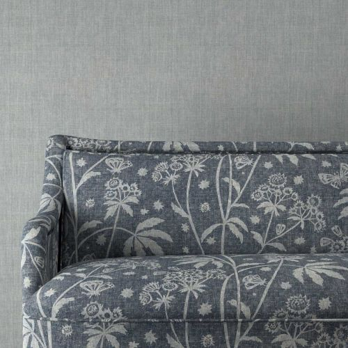Astrea Black Floral Upholstery Fabric