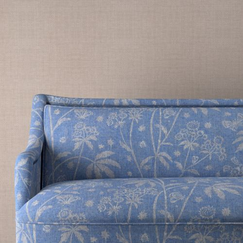 Astrea Blue Floral Upholstery Fabric