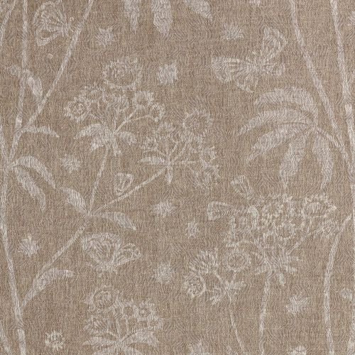 Astrea Brown Floral Linen Fabric