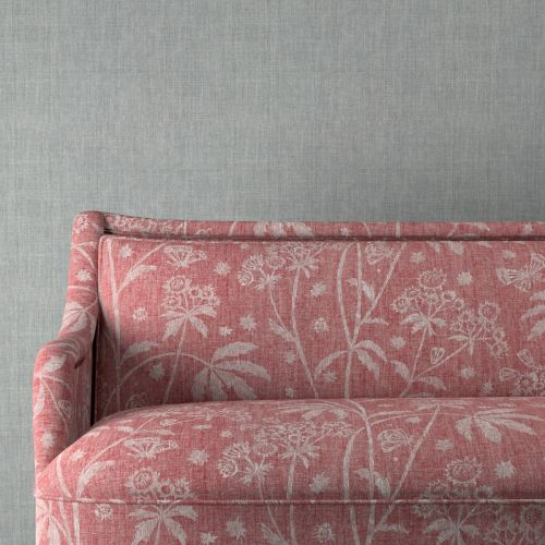 Astrea Red Floral Upholstery Fabric