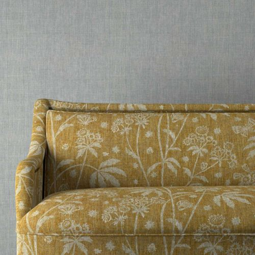 Astrea Yellow Floral Upholstery Fabric