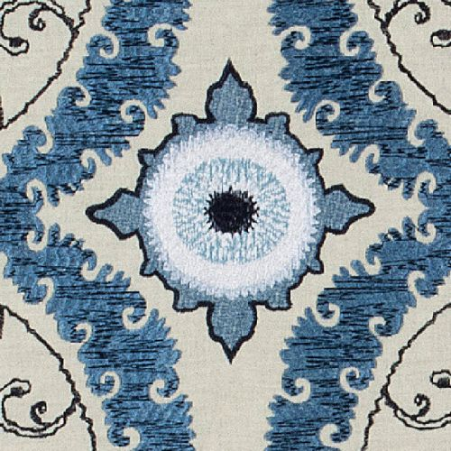 Castle Embroidered Fabric