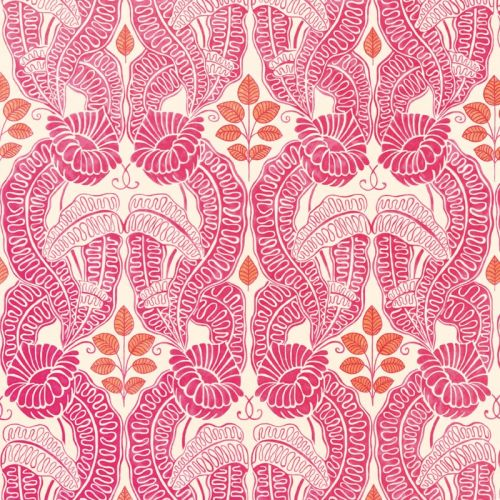 Belle De Nuit Wallpaper Fuchsia Pink Orange