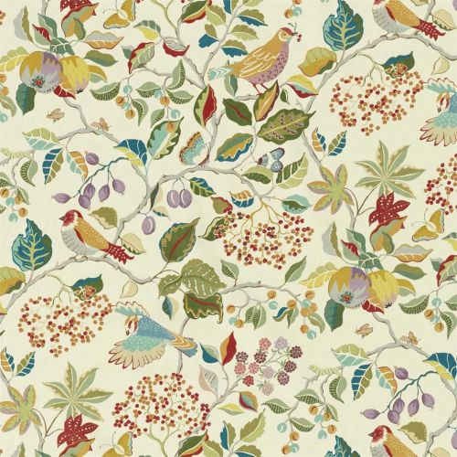 Birds and Berries Fabric