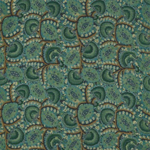 Blue and Green Fabric
