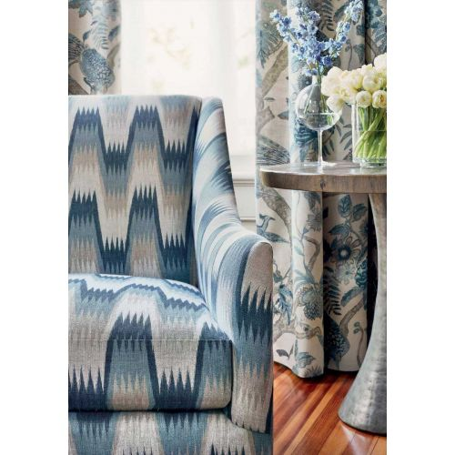 Blue and Grey Upholstery Fabric