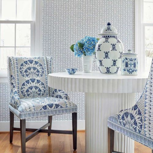 Blue and White Linen
