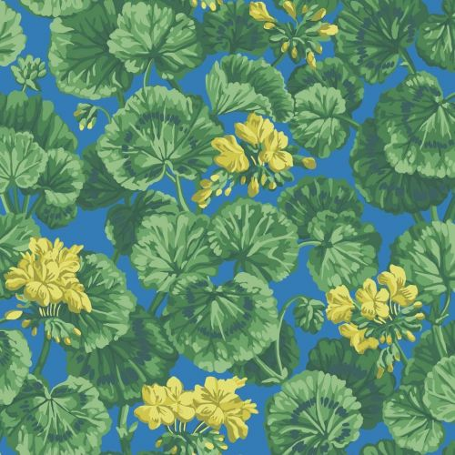 Blue Green and Yellow Wallpaper