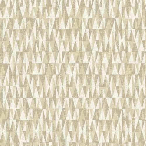 Bosham Wallpaper Cream and Neutral Geometric