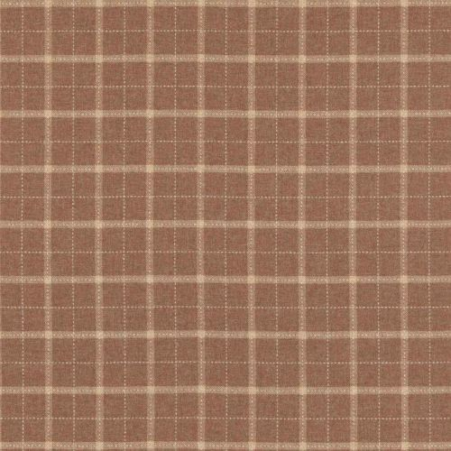 Bowmont Wool Fabric Russet Red White