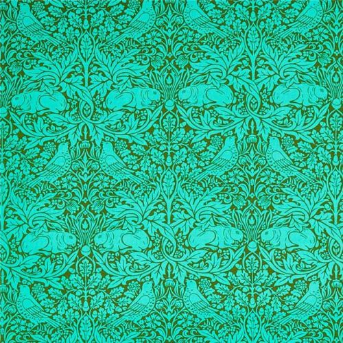 Brer Rabbit Fabric Olive Green Turquoise