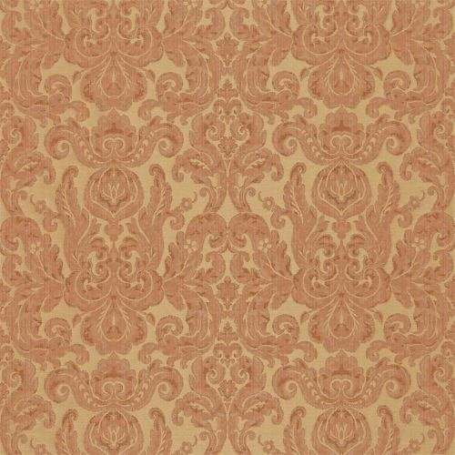 Brocatello Terracotta Damask Fabric