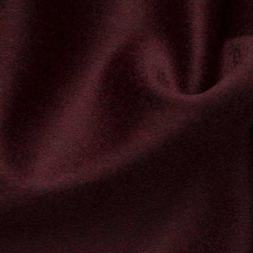 Cashmere Velour Fabric Wine Red