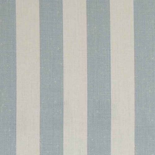 Charlie Stripe Linen Fabric Blue Duck Egg