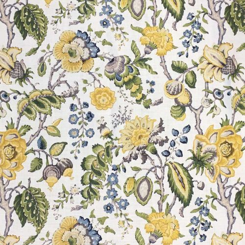 Chatterpie Linen Fabric Greenway Yellow
