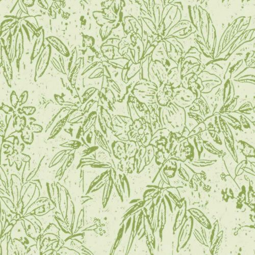 Cherry Orchard Wallpaper Green Floral