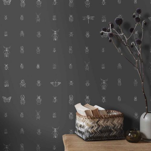 Cleo Black and White Printed Wallpaper