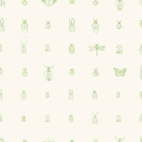 Cleo Wallpaper Fresh Green Insect Print