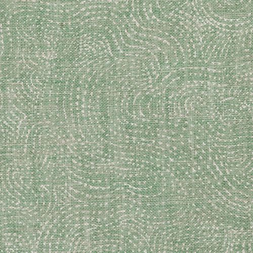 Cloud Linen Fabric Green Print