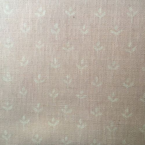 Coco Linen Fabric Shell Pink Floral Print